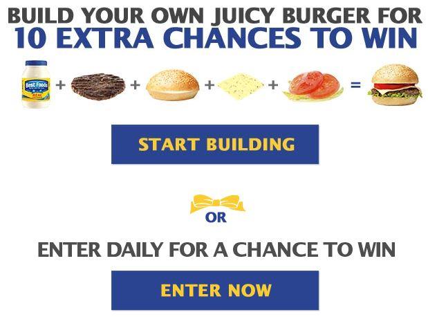 Best Foods Build Your Juicy Burger Sweepstakes