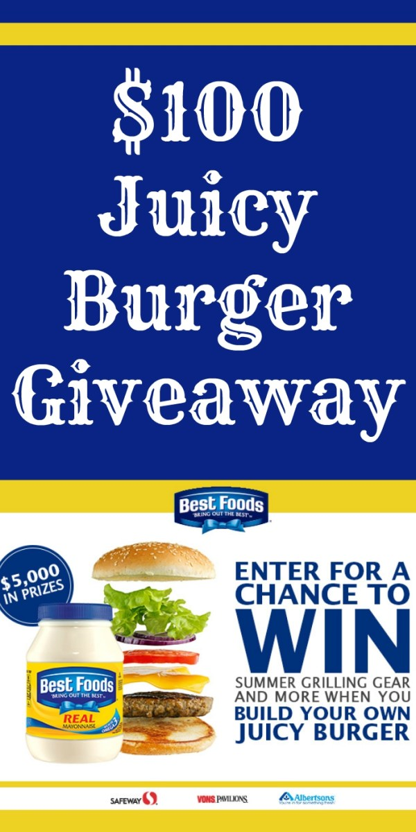 $100 Safeway or Albertsons Gift Card Giveaway ~ Build A Burger Sweepstakes