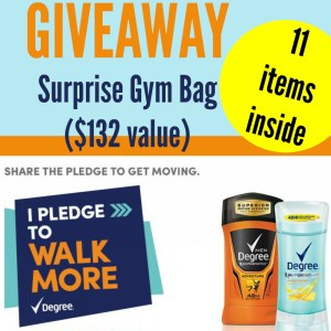 Degree® Get Moving Surprise Gym Bag Winner