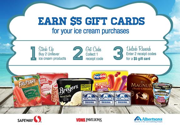 Safeway Albertsons Flavor Flurry Ice Cream Rewards