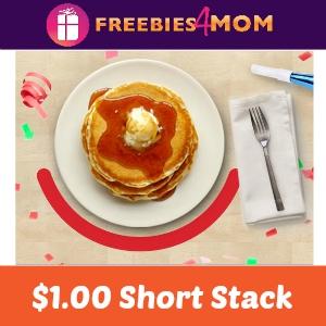 $1.00 Short Stack Pancakes at IHOP May 21