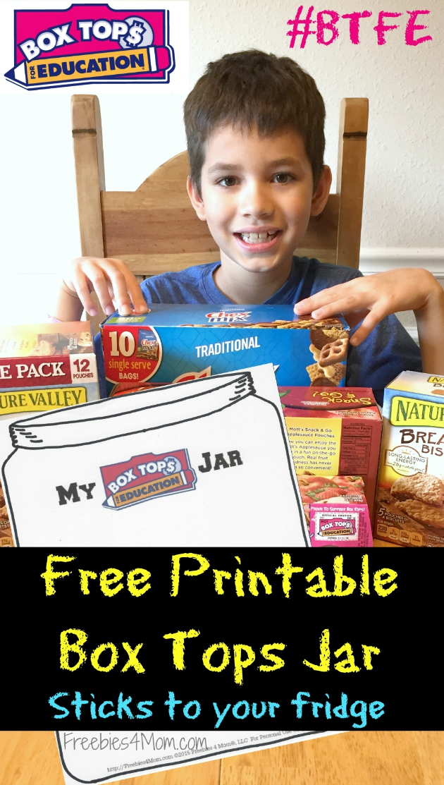 Free Printable Box Tops Collection Jar for your fridge