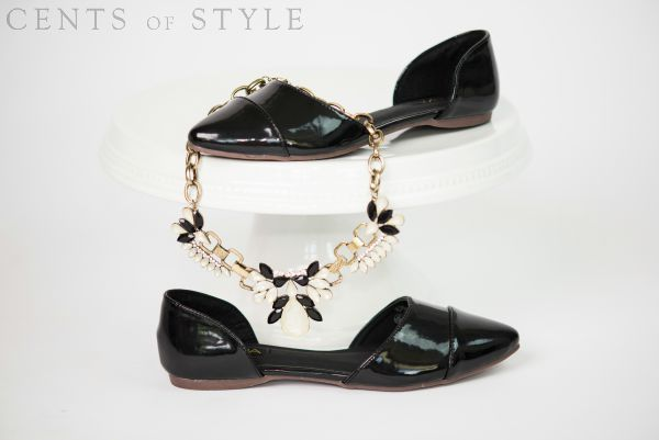 Almond-Toe Flats & Statement Necklace $16.95