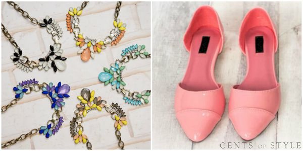 Almond-Toe Flats & Statement Necklace $16.95