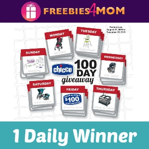 Sweeps Chicco 100 Day Giveaway