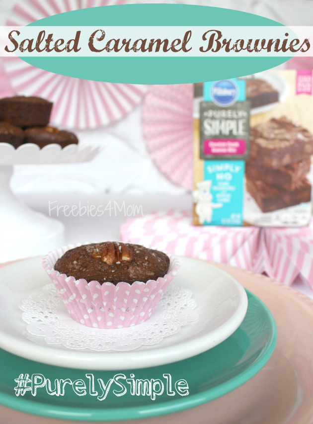 Salted Caramel Chocolate Chunk Brownies made with Pillsbury™ Purely Simple™ Baking Mix