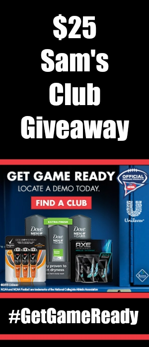 $25 Sam's Club Gift Card Giveaway ~ Get Game Ready