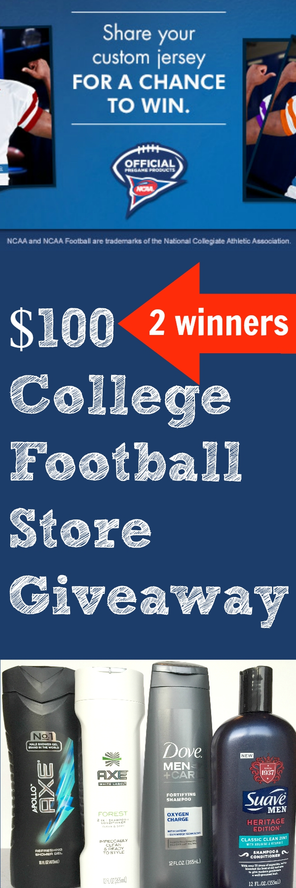 $100 College Football Store Giveaway (2 winners)