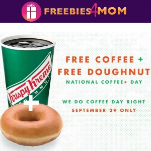 Free Coffee & Doughnut at Krispy Kreme Sept. 29