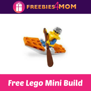Free Mini Lego City Kayak Build at Toys R Us