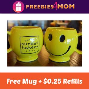 Corner Bakery Cafe Free Mug + $0.25 Refills