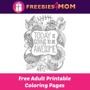 Free Owl & Today is Awesome Coloring Pages