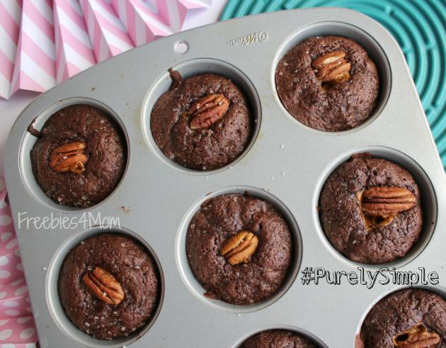 Salted Caramel Chocolate Chunk Brownies after baking