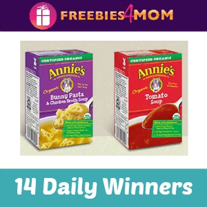 Sweeps Annie's Soup (14 Daily Winners)