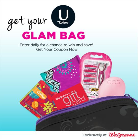 U by Kotex Glam Bag Sweepstakes