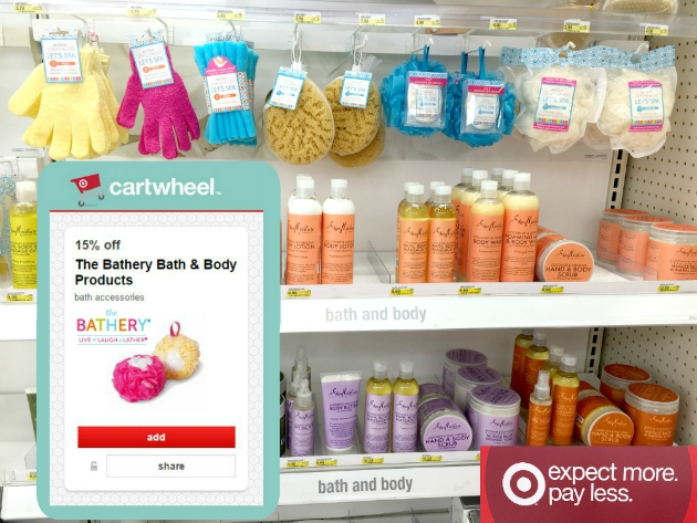 Save 15% off The Bathery Bath & Body products at Target with Cartwheel