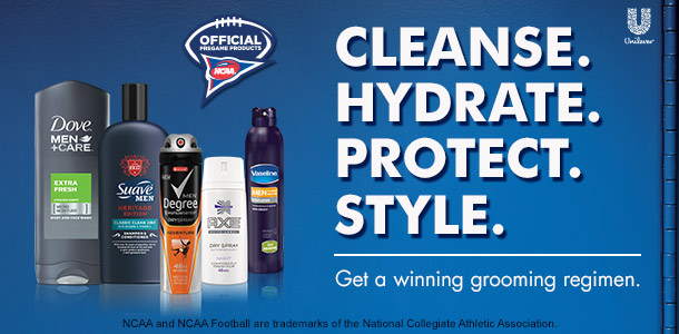 NCAA Men's Grooming products at Walmart #GetGameReady