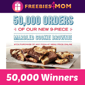 Free Domino's Marbled Cookie Brownie