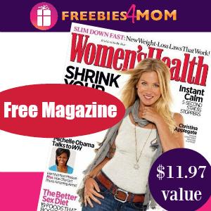 Free Women's Health Magazine ($11.97 value)