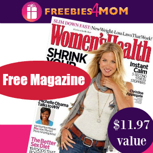 Free Women's Health Magazine ($11.97 value)