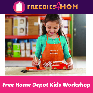 Free Kids Workshop at Home Depot Jan. 5