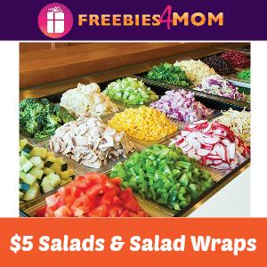 $5 Salads & Wraps at Salata Today