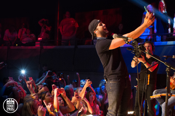 AXE Stage Pass Luke Bryan interviews and performances