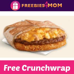 Free A.M. Crunchwrap at Taco Bell Thursday