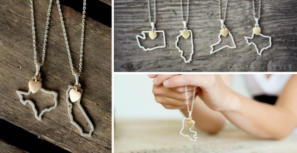 Cents of Style: 2 State Necklaces for $19.99