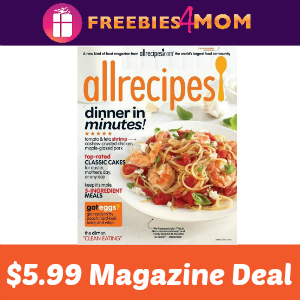 Magazine Deal: Allrecipes $5.99