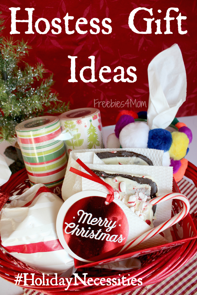 Diy holiday hostess gifts peppermint bark pompom kleenex for Holiday party gift ideas for the hostess