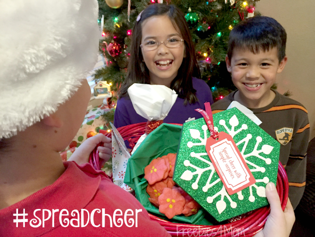 Giving Poinsetta Cookies to friends to #SpreadCheer