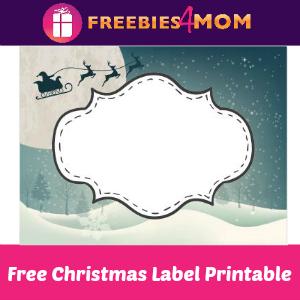 Free Christmas Label Printable