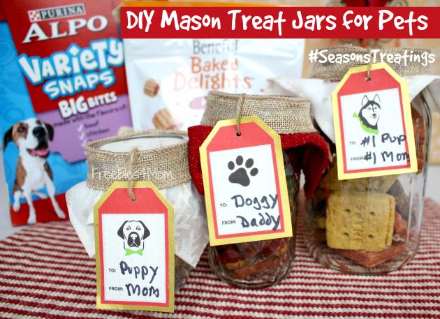 DIY Mason Treat Jars for Pets