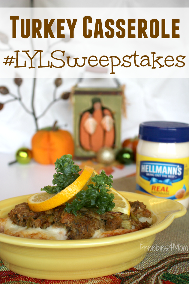 Love Your Leftovers Sweepstakes & Leftover Turkey Casserole Recipe