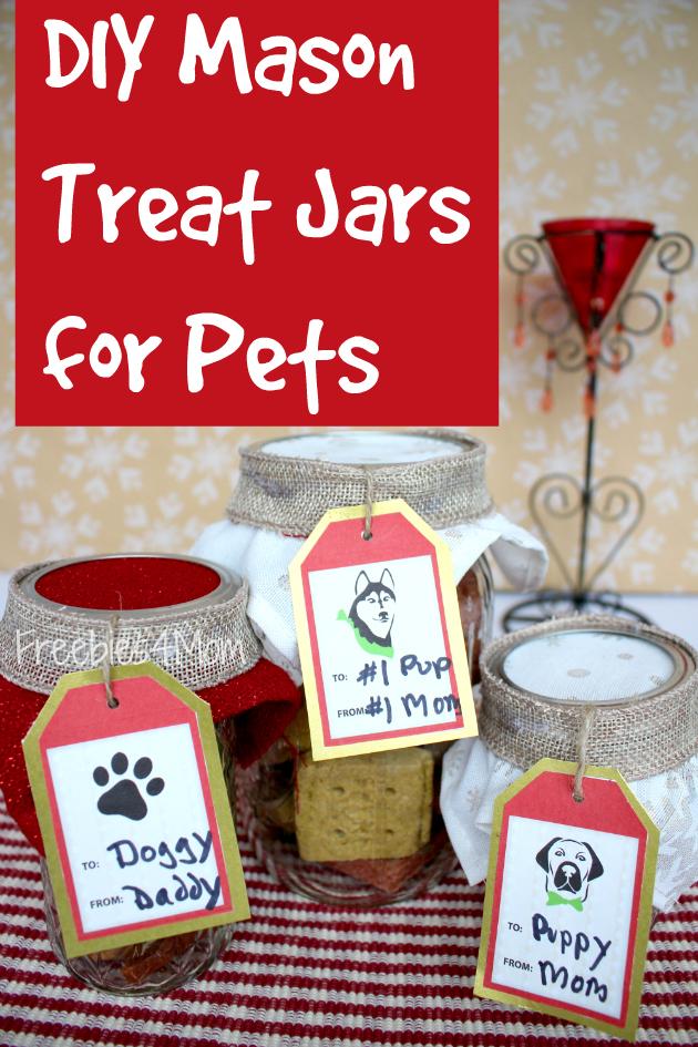 Purina Treat Coupons and DIY Mason Treat Jars for Pets