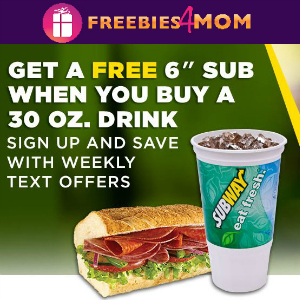 """Free 6"""" Subway Sandwich"""