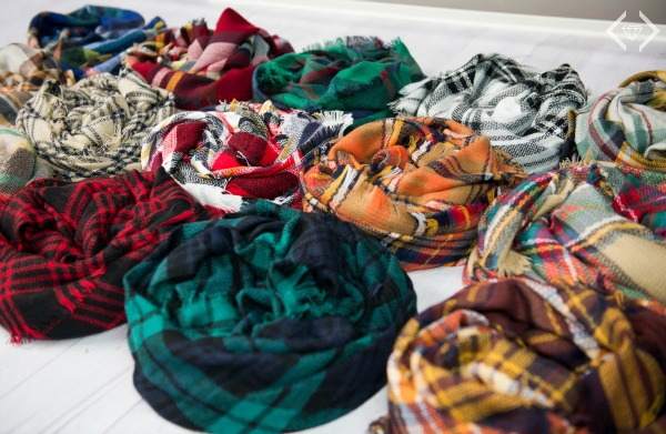 Plaid Blanket Scarves $15.95