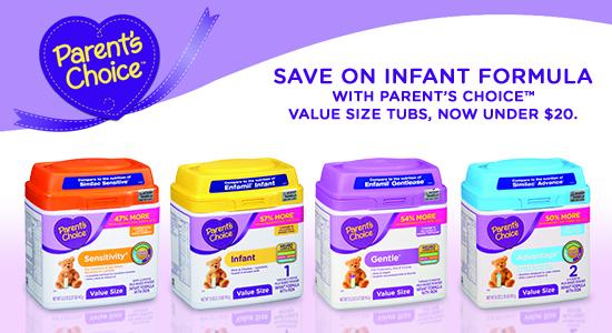 Save on Parent's Choice Formula at Walmart