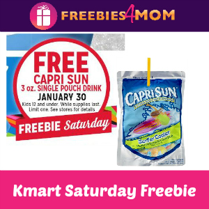 Free Capri Sun at Kmart Saturday