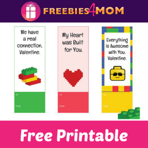 Free Printable LEGO Valentine Bookmarks