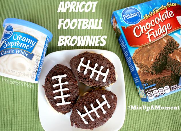 Apricot Football Brownies with Pillsbury™
