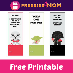 Free Printable Star Wars Valentine Bookmarks