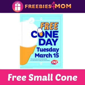 Free Cone Day at Dairy Queen March 15