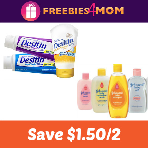$1.50 off Two Johnson's or Desitin products