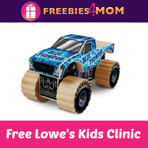 Free Monster Jam Kids Clinic at Lowe's March 12