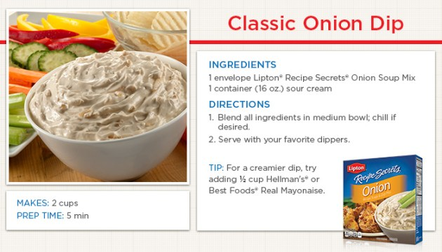 Classic Onion Dip Recipe