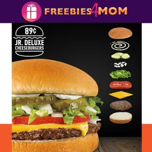 $0.89 Jr. Deluxe Cheeseburgers at Sonic Mar. 9