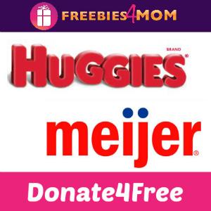 Donate4Free: Huggies & Meijer