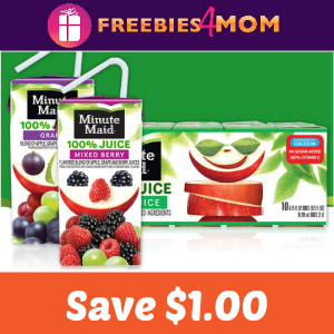 Coupon: $1.00 off Minute Maid Juice Box 10 pk